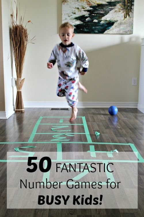 50 Fantastic Number Learning Games for Kids. Hands on math activities for preschoolers and kindergartners - idea for BUSY KIDS! www.HowWeeLearn.com
