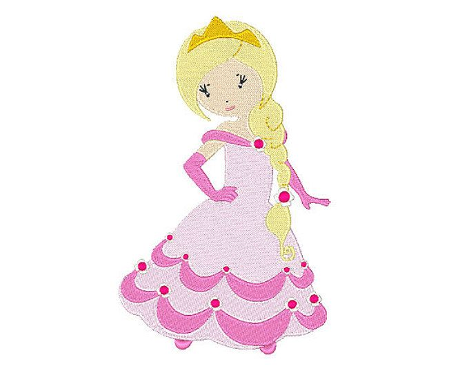 Prince And Princesses Embroidery Designs 9