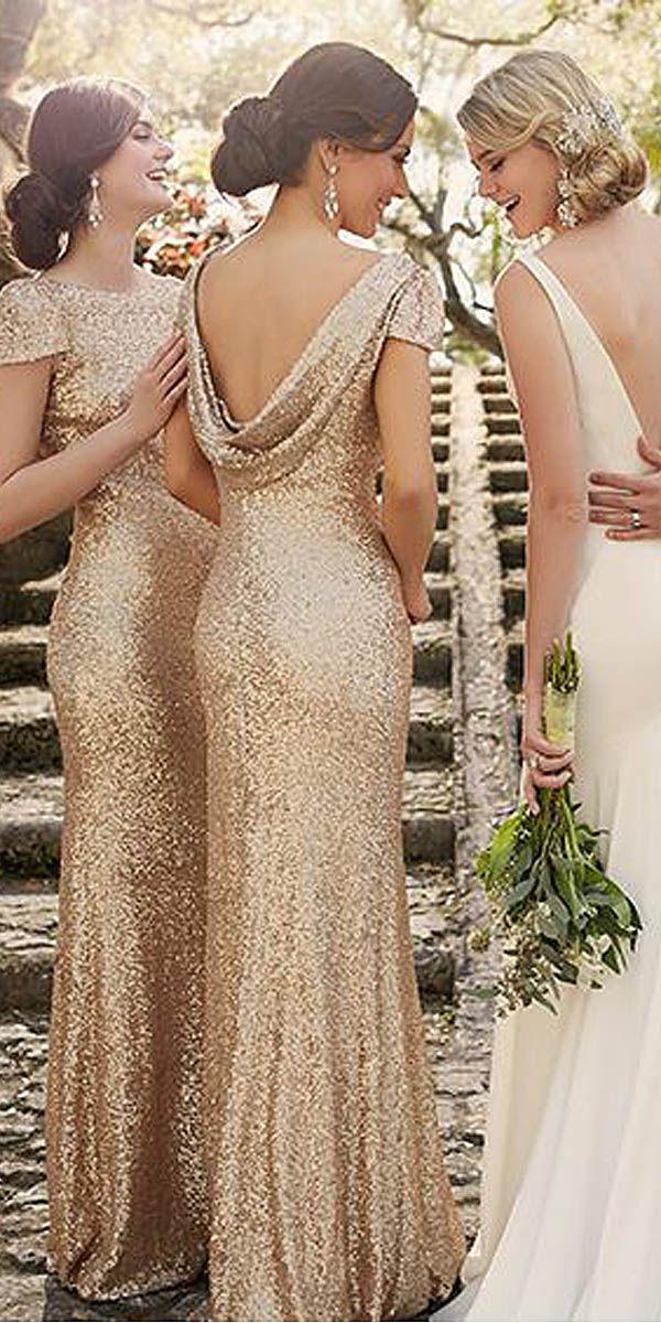 18 Full On Glitz Sequined & Metallic Bridesmaid Dresses 2