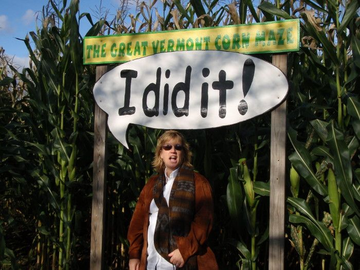 9) And of course, The Great Vermont Corn Maze in Danville.
