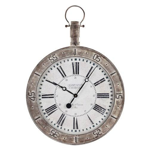 Bolton Distressed Cream Clock Cooper Classics Wall Mounted Clock Clocks Home Decor