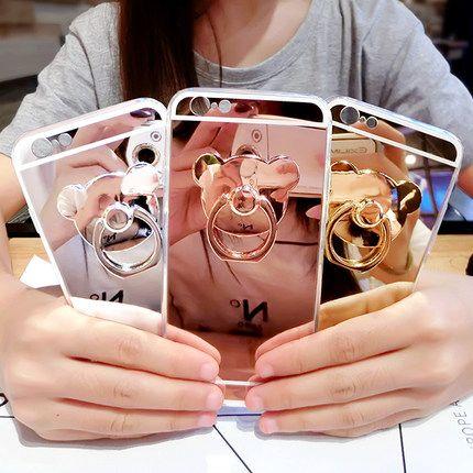 """Мода Розовое золото Роскошный Зеркало Мягкие TPU Case Для Xiaomi hongmi Note3 Pro Риса Redmi Note 3 Примечание 3 5.5 """"Задняя крышка и Подставка купить на AliExpress"""