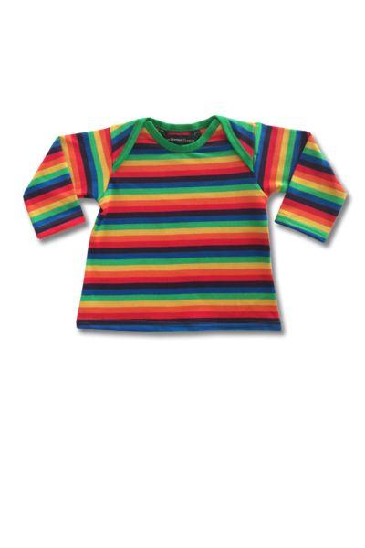 Organic New Zealand made Thunderpants | Baby Plunket Tee Rainbow Stripe