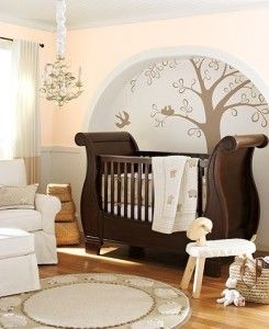 Holey molely, I like this nursery! Gender neutral, not too cutesy, calming colors, lovely backdrop(s) for millions of baby photos! #nursery