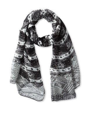 58% OFF Jules Smith Women's Tribal Scarf, Black/White