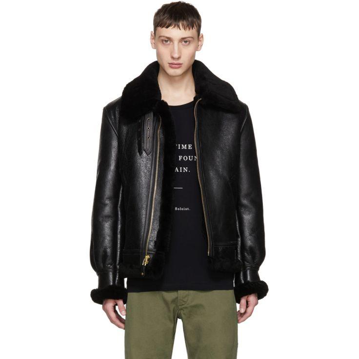 Schott - Black Shearling B-3 Jacket