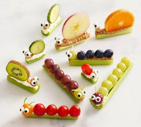 35 ideias adoráveis de snacks para crianças