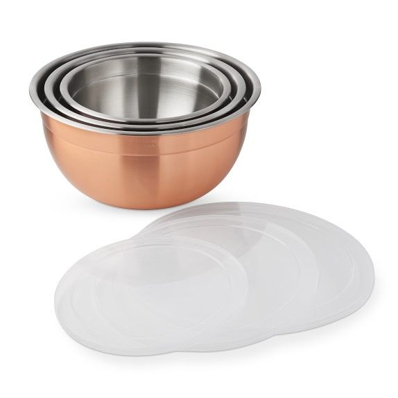 Copper Mixing Bowls With Lids Set Of 3 In 2020 With Images