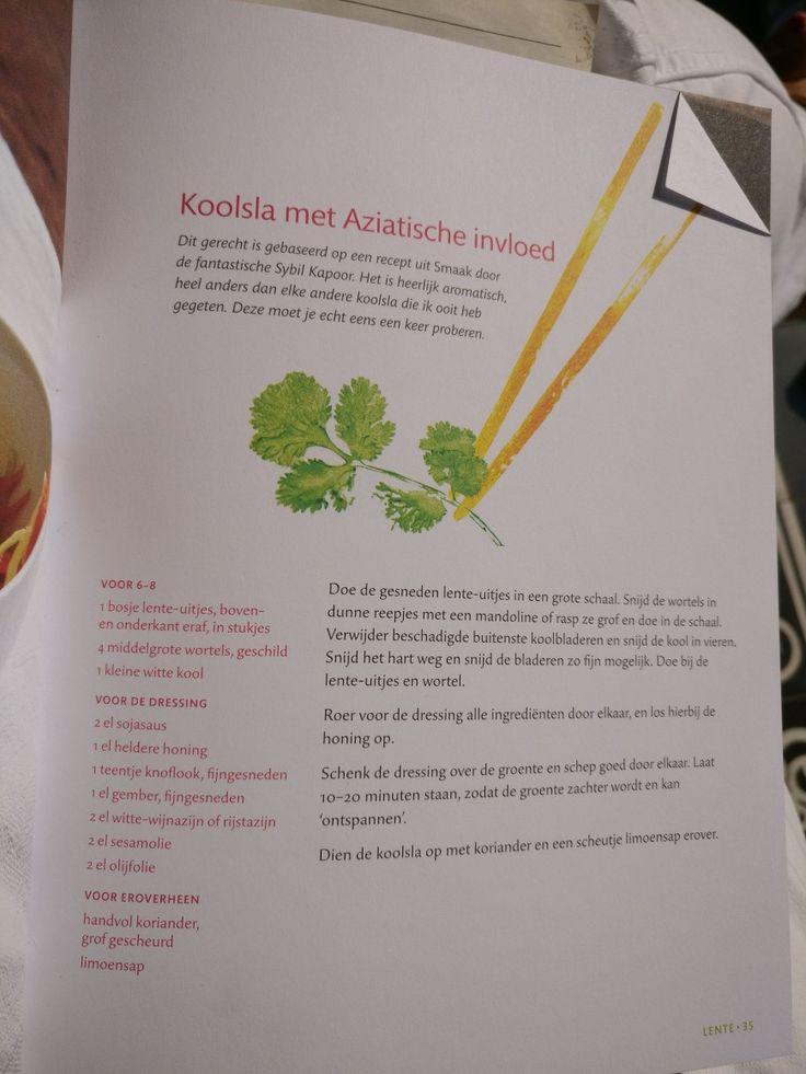 Aziatische koolsalade uit Veggie kookboek