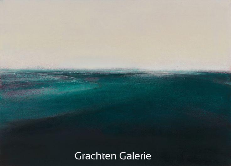 Z.t. 10 | Andre Hoppzak | Schilderij | Painting | Kunst | Art | Blauw | Blue | Wit | White | Grachten Galerie
