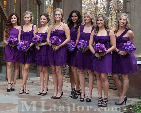 Diffe Dresses Black Shoes Wedding Pinterest Purple And Bridesmaid