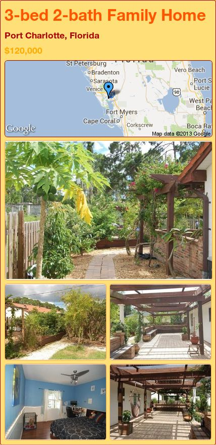 3-bed 2-bath Family Home in Port Charlotte, Florida ►$120,000 #PropertyForSale #RealEstate #Florida http://florida-magic.com/properties/14184-family-home-for-sale-in-port-charlotte-florida-with-3-bedroom-2-bathroom