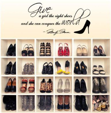 Amazon.com: Marilyn Monroe Give A Girl Shoes....Conquer the World Quote Wall Decal Decor Large Nice Sticker: Home Improvement