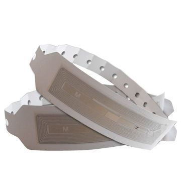 China RFID Hospital Bracelet Tags, Made of Paper, Logo Printing Ways are Accepted
