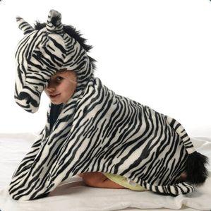 Zebra - dyrekostume/tæppe.  Wild & Soft, BIBIB & Co.