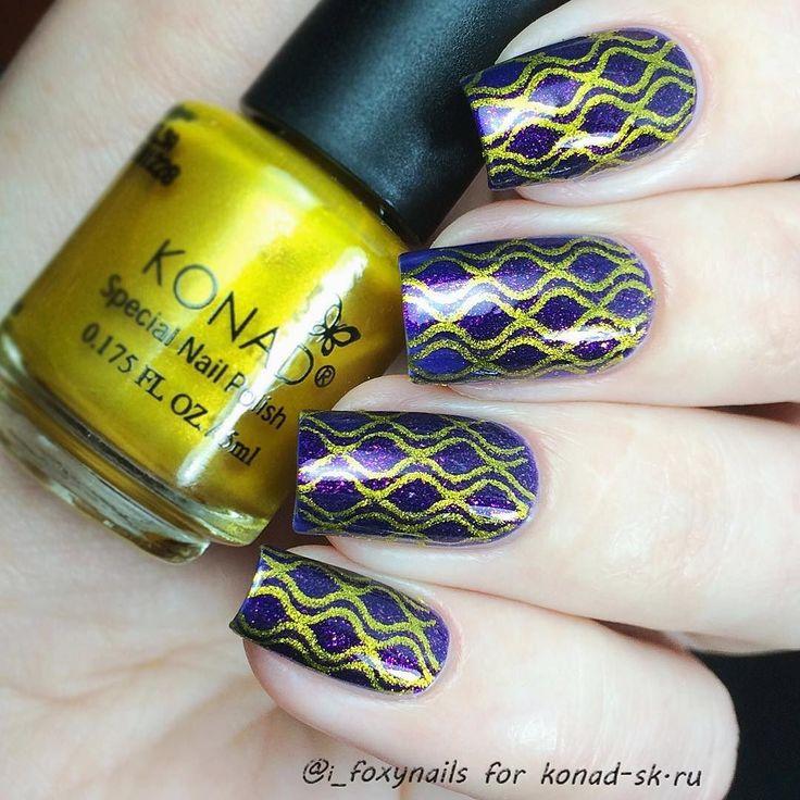Наконец-то у меня появилась идеальная золотая краска для стемпинга!! Я очень довольна  #стемпинг золотом с пластины #konad #squareimageplate 1 Все от @konad_sk  Купить всю продукцию #konad можно тут  konad-sk.ru by i_foxynails