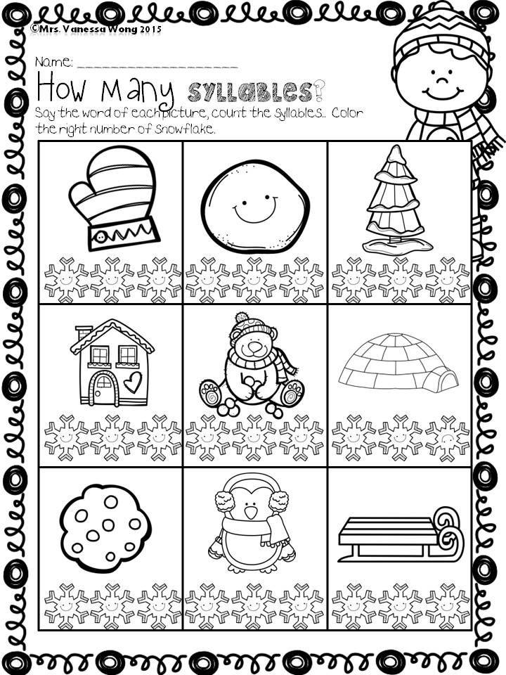 Winter math and literacy centre kindergarten- how many syllabus