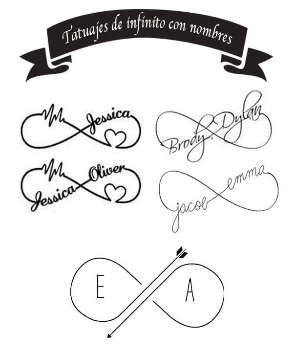 Infinite Tattoo With Names Tatuaje De Infinito Con Nombres