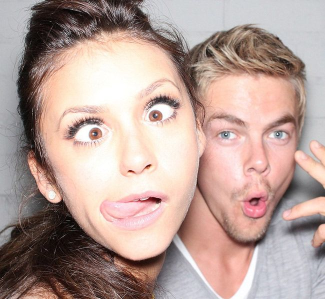 What Has Nina Dobrev Been Tweeting at Derek Hough