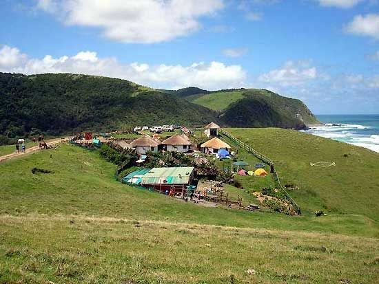Mpande Beach & The Kraal, Transkei, South Africa. Mpande is an unspoilt gem. The combination of the beach, scenery, hiking and horse riding make it easy to forget the relative close proximity of 'civilisation' in Port St Johns.