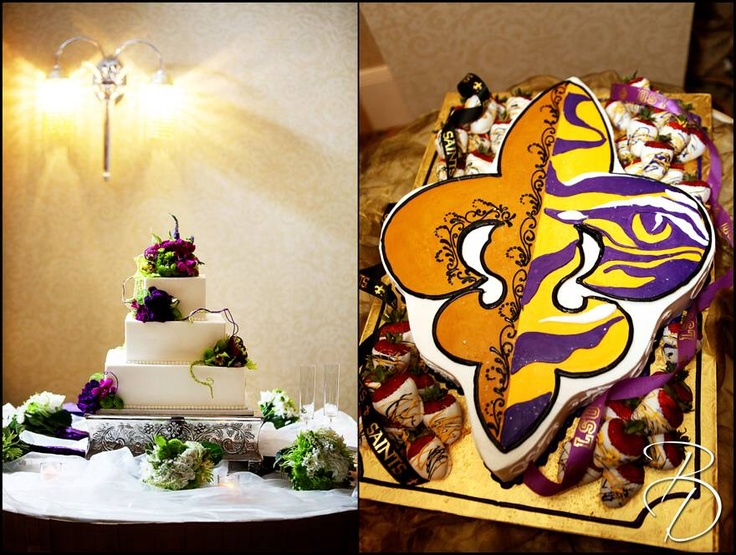 half and football wedding cake lsu saints cake wedding grooms cake 15038