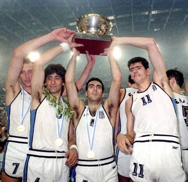 """''I am proud and grateful as a member of that team that gave GREECE the FIRST European trophy[1987] but most of all joined the entire nation.I can't forget those unforgettable moments that I experienced after the end of the final, initially at SEF arena and after at the hotel which was surrounded by thousands of Greeks. From the next day thousands of children got a basketball and started practicing. And I think this was our BIGGEST success!""""--NIKOS GALIS"""
