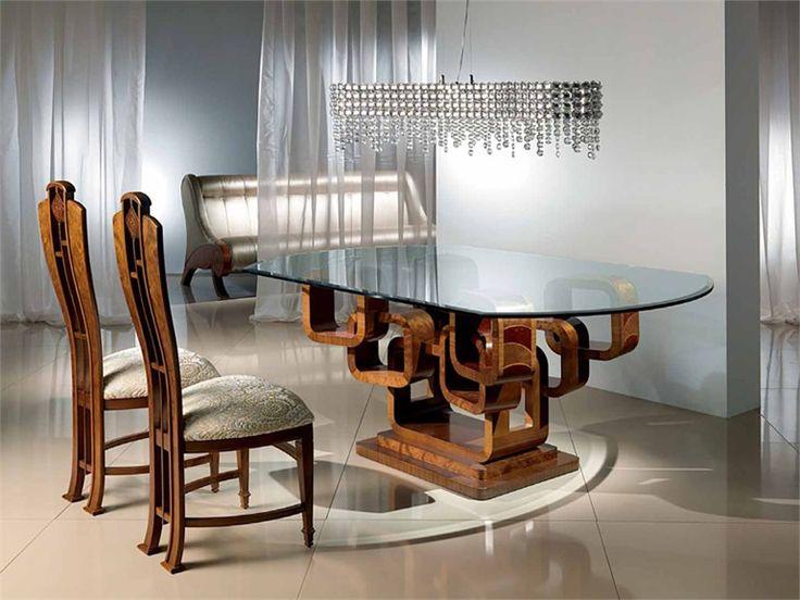 Tavolo da pranzo ovale in legno GLAMOUR KING Collezione Anelli by Carpanelli Contemporary