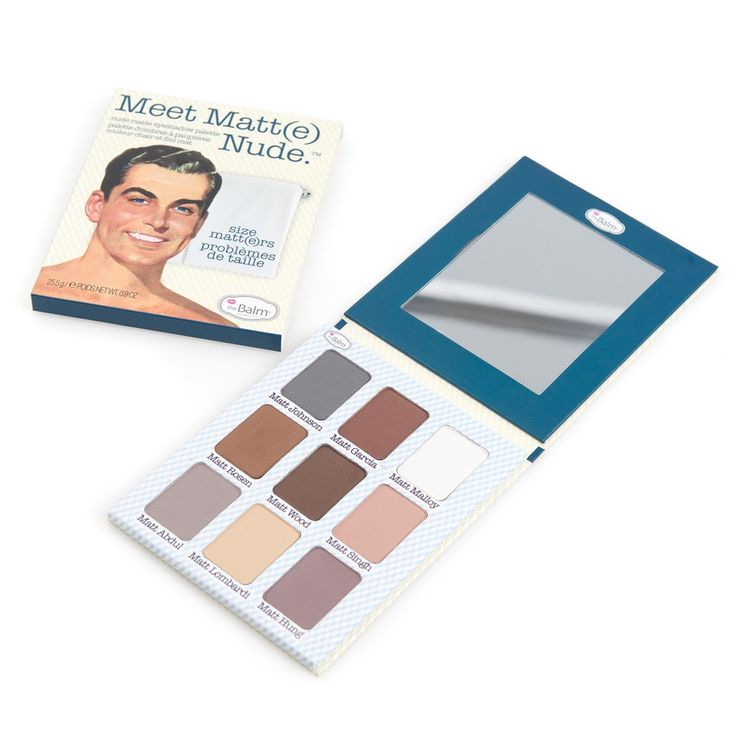 272 kr på blivakker.no The Balm Meet Matt(e) Nude Eyeshadow Palette 9 Farger I Settet