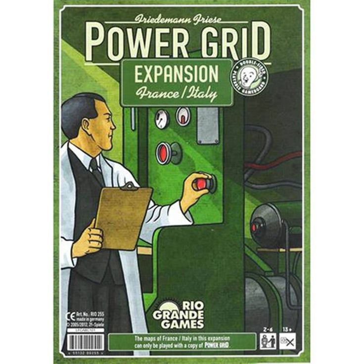 This is the Power Grid France and Italy Expansion Set for the board game Power Grid. Important things first: This is an expansion set to the original Power Grid board game, so you'll need that bad boy