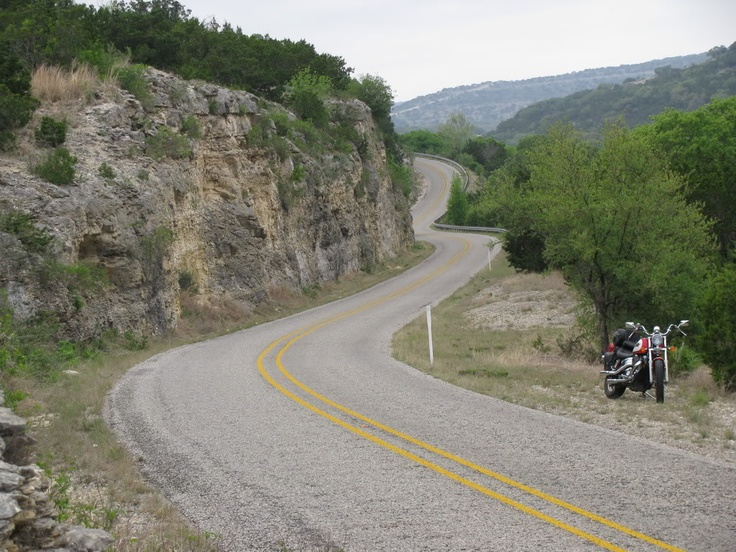 Ranch Road 335.  Part of the scenic loop in the Texas Hill Country known as the Three Sisters.