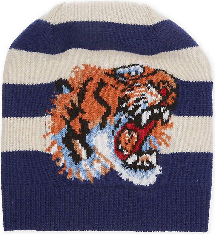 7e0c0c7eb3c Gucci Tiger striped beanie  Gucci  caps  hats  ShopStyle  MyShopStyle click  link
