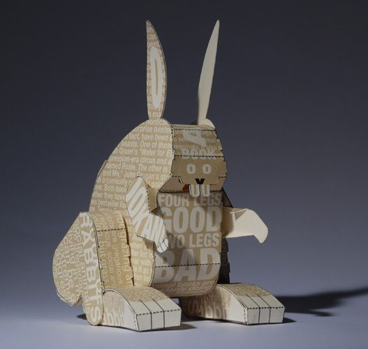 Rabbit by Carlo Giovani: made of folded paper for the NY Times via reubenmiller #Paper_Rabbit #Rabbit #Carlo_Giovanni #reubenmiller