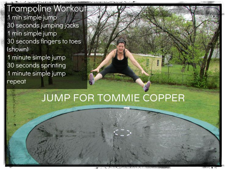 RUNNING WITH OLLIE: Jump for Tommie Copper: Fitness Apparel Giveaway & Trampoline Workout