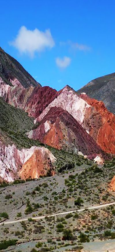 The colors on a walking tour of Los Colorados in Purmamarca, Salta #Argentina #Tours #SouthAmerica