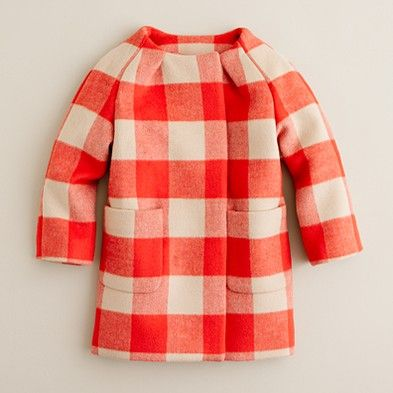 [J.Crew] buffalo check coat