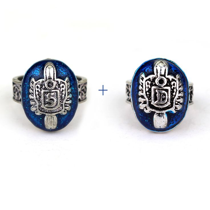 2 Pcs Lot American Television The Vampire Diaries Damon Or Salvatore Ring Best Friend Punk Party Statement Finger Men Rings Gift