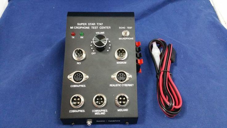 Workman Superstar T747 Microphone Test Center Tester Cb3a