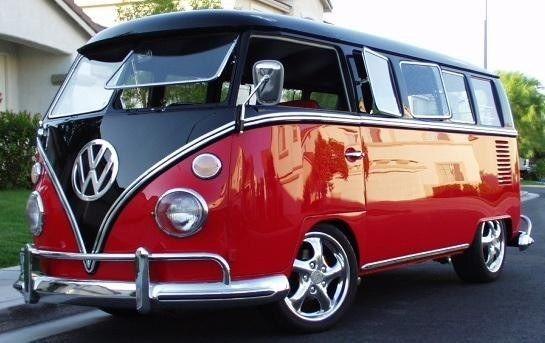 Please can I have one?Volkswagen Vans, Vintage Cars, Vw Bus, Future Cars, Volkswagen Bus, Vw Vans, Dreams Cars, Volkswagon Vans, Red Black