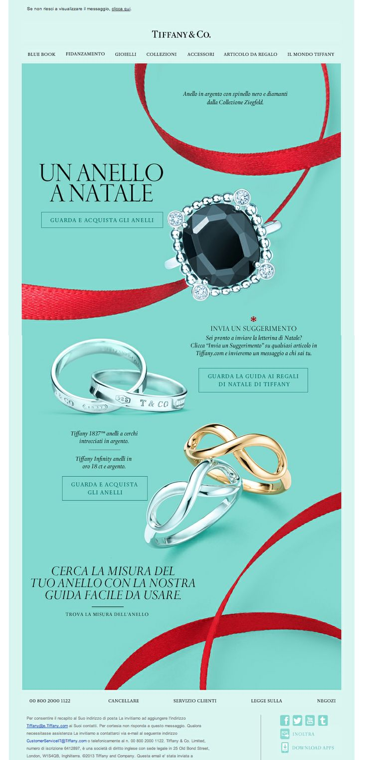 #newsletter Tiffany & Co. 11.2013 Anelli Tiffany: Regali di Natale Perfetti