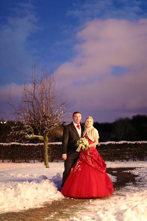 Winter weddings at Kent Life with snow!