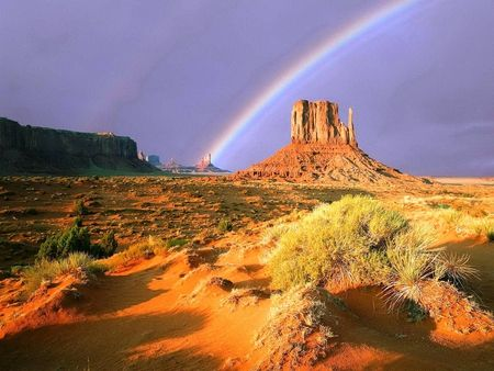 Monument ValleyMonument Valley, Chase Rainbows, Monuments Valley, Sky, Nature, Beautiful, Rainbows Wallpapers, National Parks, Poe Quotes