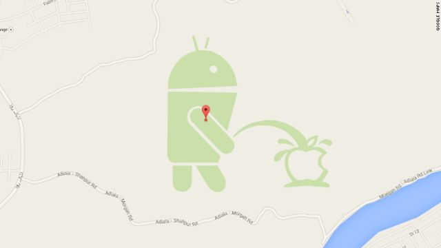 CNN.co.jp : アンドロイドがアップルにおしっこ? グーグルマップに表示