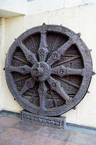 Clock Photograph - Konark Wheel 'sun Clock' by Mark Williamson