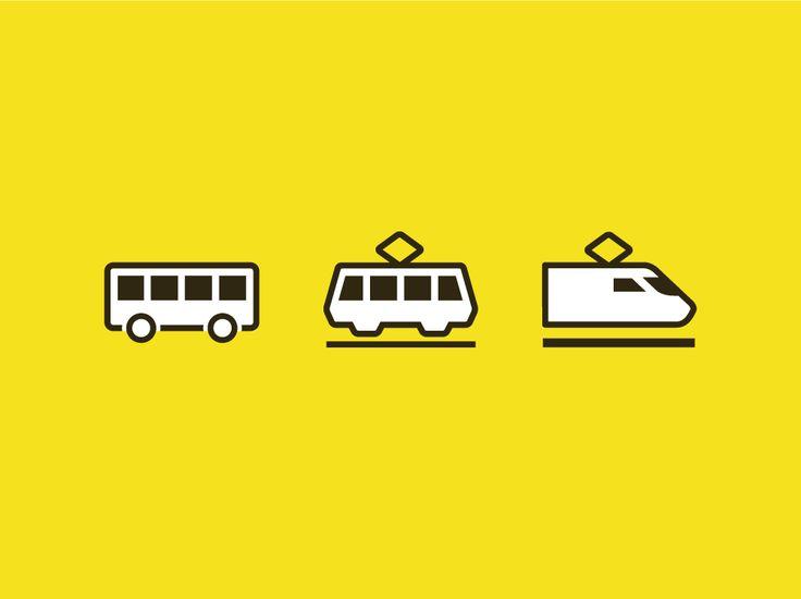 bus | tram | train | transit icons