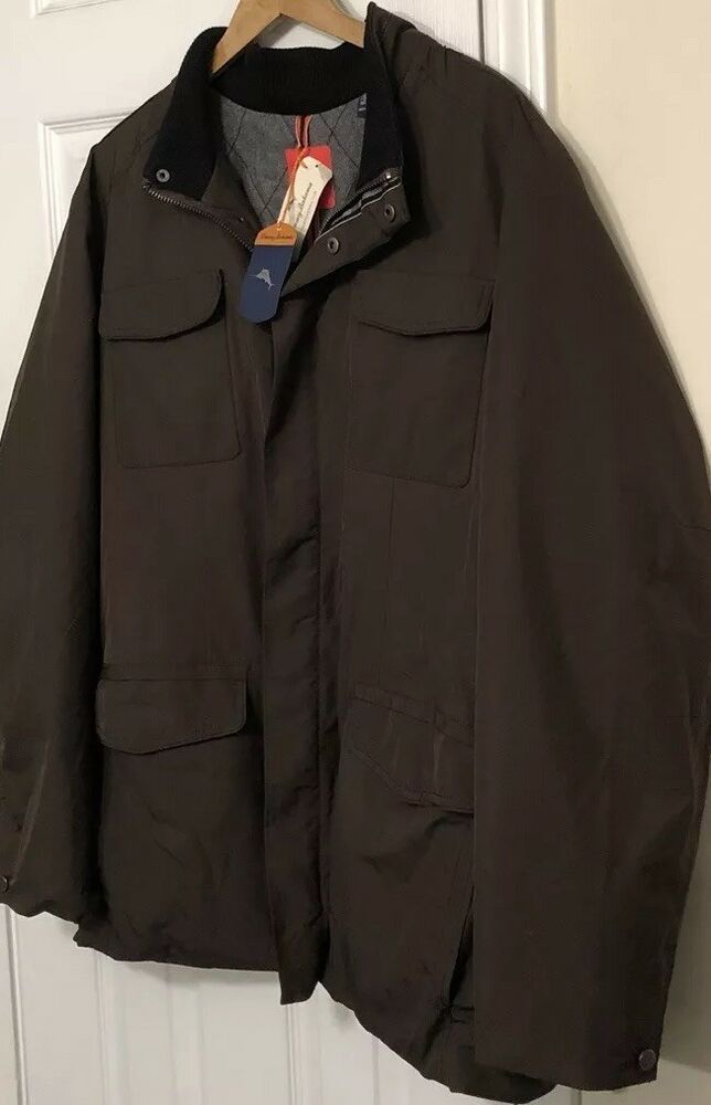 $295 NWTS Tommy Bahama Men/'s Size M Medium Urban Paradise Field Jacket Coffee