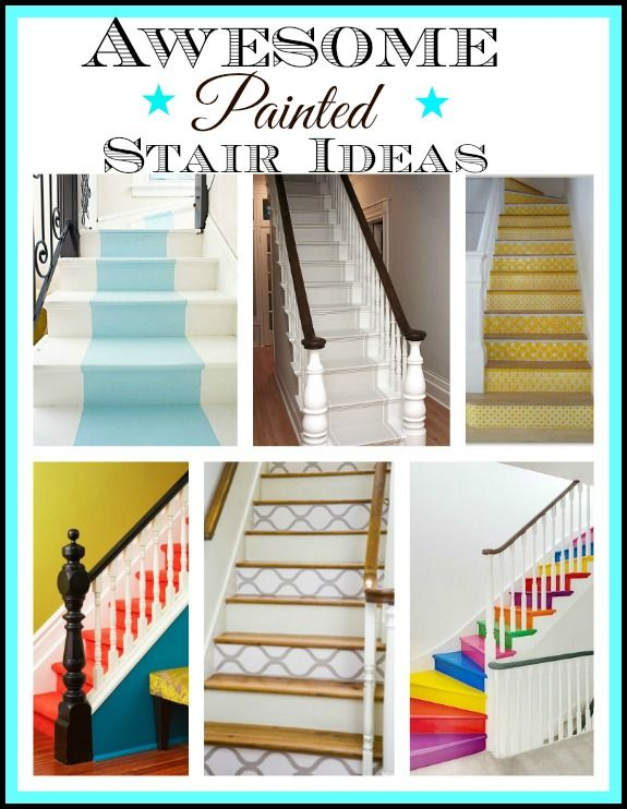 9 awesome painted stair ideas awesome painted stairs - Ideas for painting stairs ...