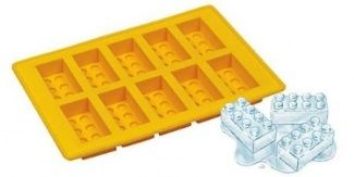 Lego Shape Ice Cube Tray, Yellow Silicone Brick Mould