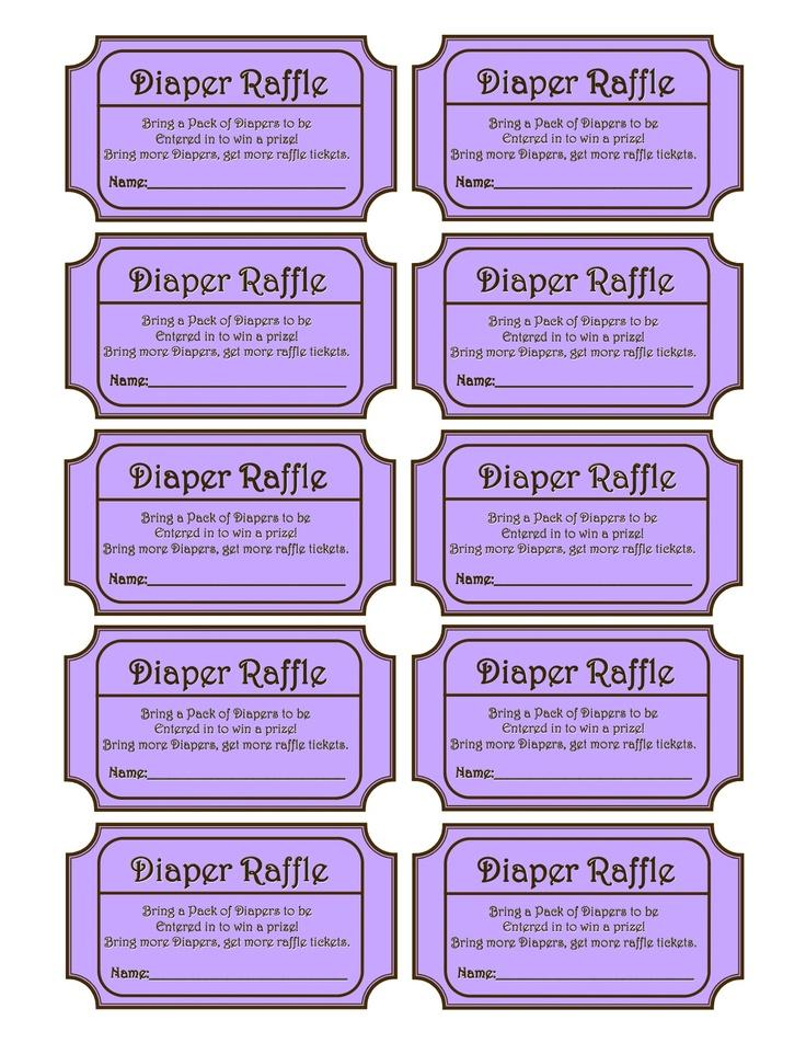 Diaper Raffle, Baby Shower Ideas.