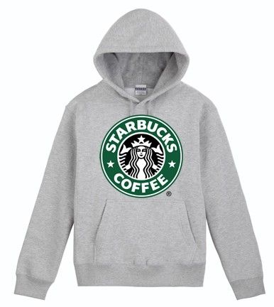Starbucks Grey Hoodie Sweatershirt | Honolu - Clothing on ArtFire