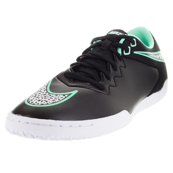 Enjoy the look and feel of these Nike Men's Hypervenom Pro Ic Black/White/Green Glow/G Glw Indoor Soccer Shoe. These black soccer shoes are made from synthetic, mesh. Be the X-factor your team needs t
